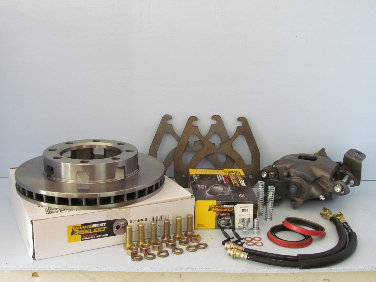 Glo Corporate 14 Bolt Complete Disc Brake Conversion Kit With E Brake Calipers Great Lake Off Road Llc
