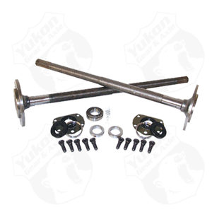 One piece short axles for Model 20 '76-'3 CJ5and '76-'81 CJ7 with bearings and 29 splineskit.