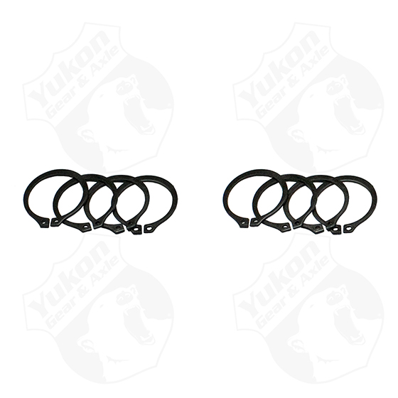 (4) Full Circle Snap Ringsfits Dana 60 733X U-Joint with aftermarket axle.