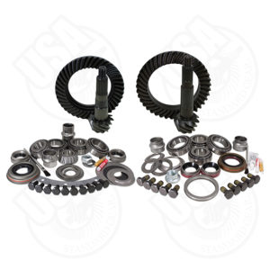 USA Standard Gear & Install Kit package for Jeep TJ with D30 front & Dana 44 rear4.56 ratio.